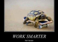 TRY SMART NOT JUST HARDER