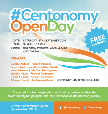 #CentonomyOpenDay: 6th September 2014