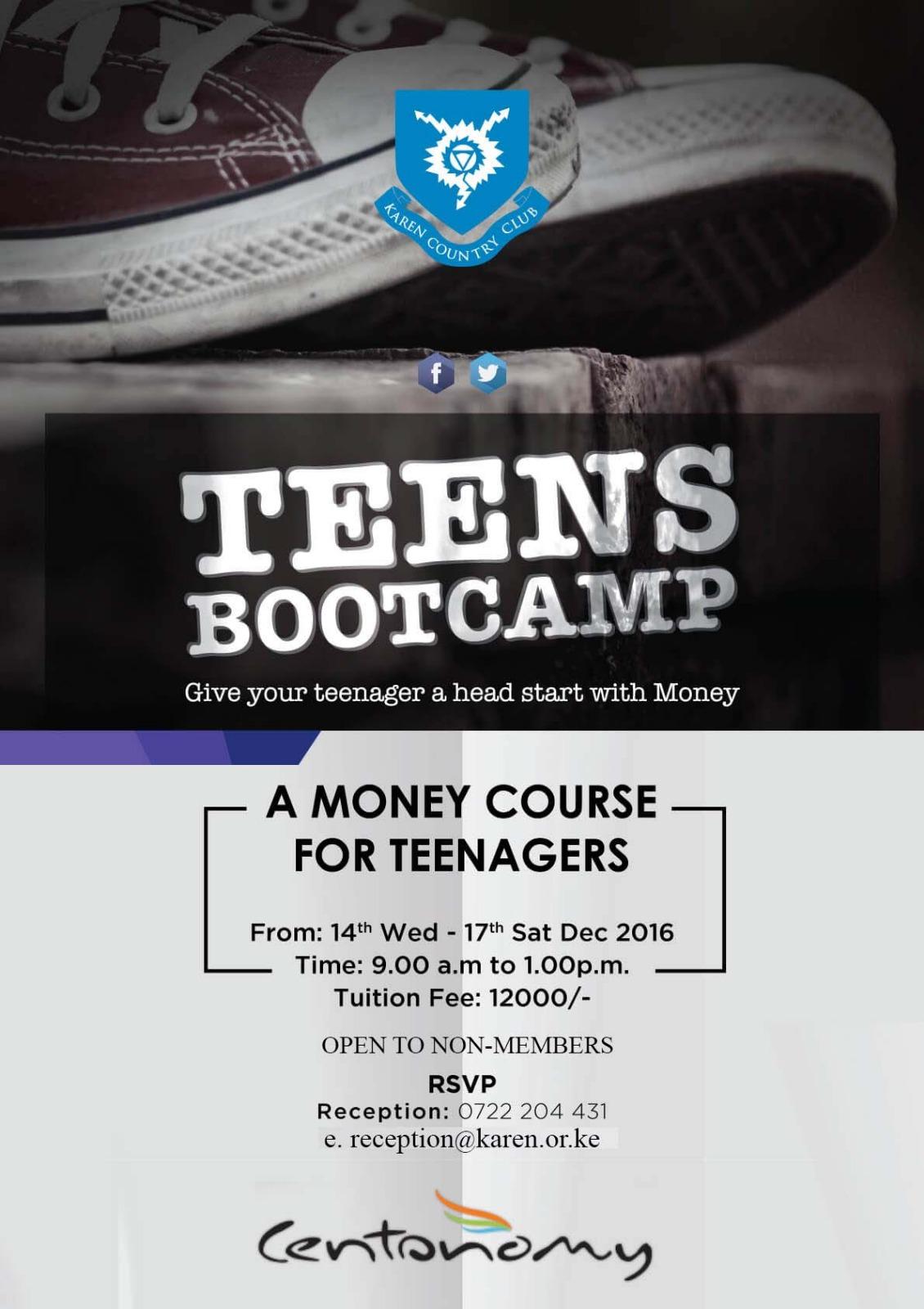 Centonomy Teens' Boot Camp