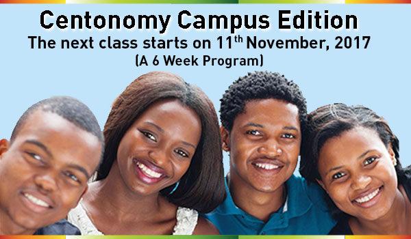 Register for Centonomy Campus Edition Season 17, starts 11th November 2017