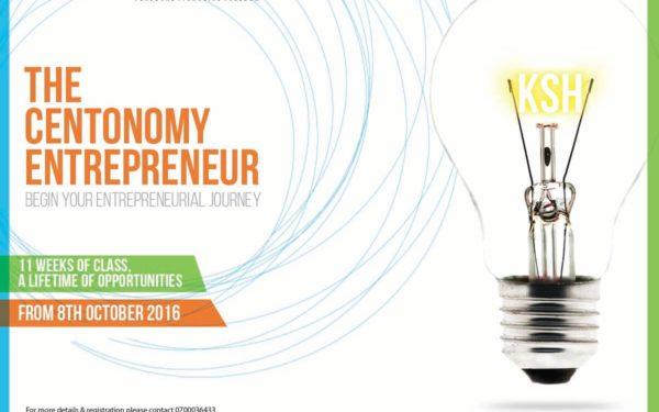The Centonomy Entrepreneur Saturday class begins on 8th October