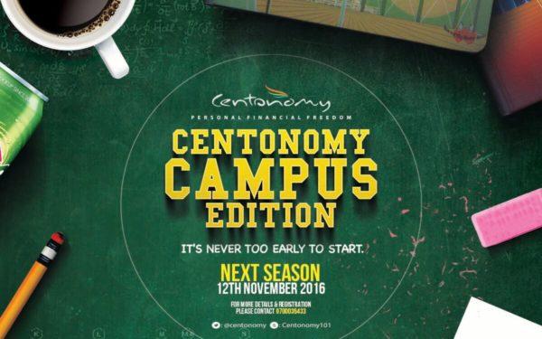 The Centonomy Campus Edition Program begins on 12th November 2016