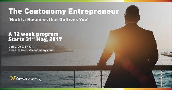 Register for the Centonomy Entrepreneur Program. Next intake starts in September.