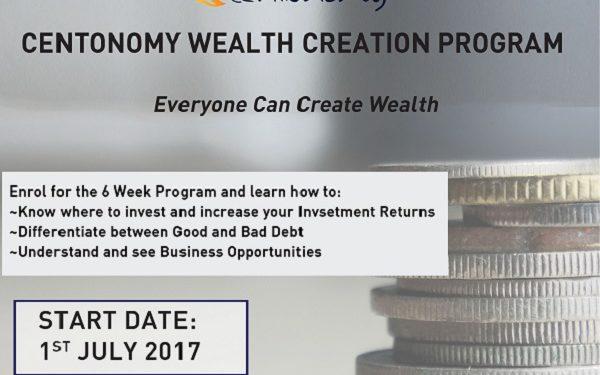 Register for The Centonomy Nakuru Wealth Creation Program, starts on 1st July