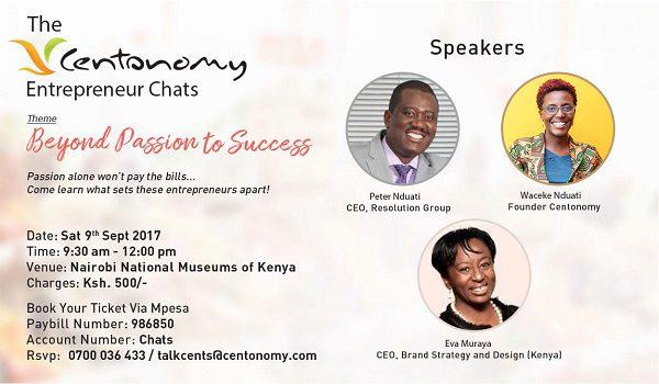 Centonomy Entrepreneur Chats, 9th September, 2017