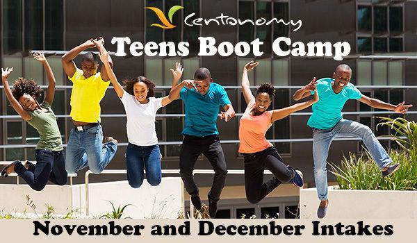 Register your kids for the December Centonomy Teens Boot Camp